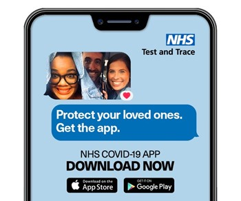 Protect your loved ones. Get the app. NHS COVID-10 APP DOWNLOAD NOW.